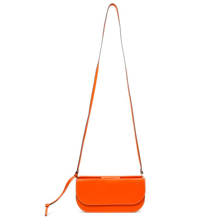 Loewe Orange Smooth Calfskin Gate Pochette