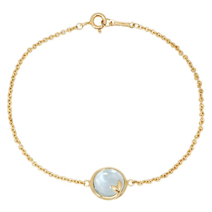 Tiffany & Co. 18K Yellow Gold Topaz Olive Leaf Bracelet