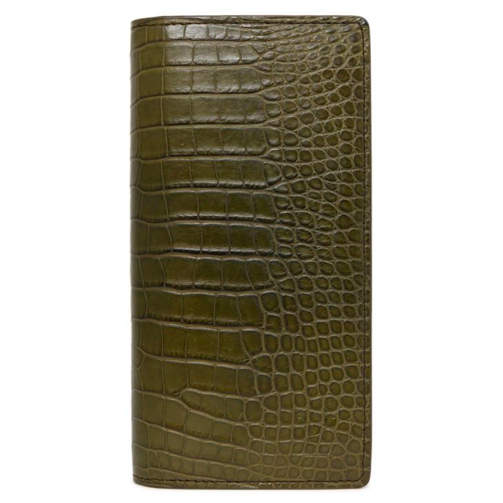 Louis Vuitton Khaki Alligator Brazza Wallet