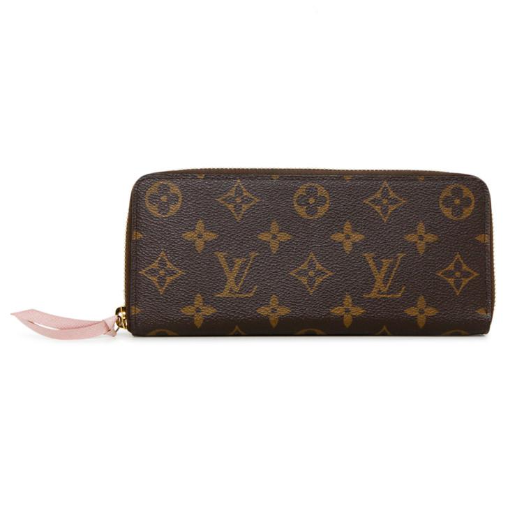 Louis Vuitton Rose Ballerine Monogram Clemence Wallet