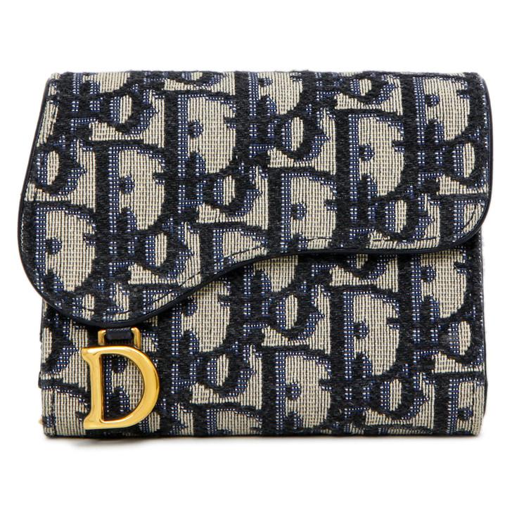 Christian Dior Oblique Saddle Lotus Wallet