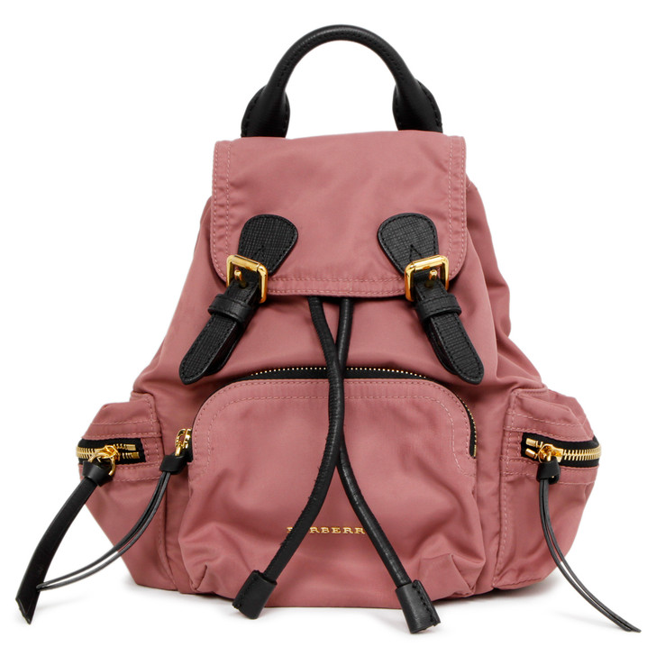 Burberry Pink Nylon Small Rucksack Backpack