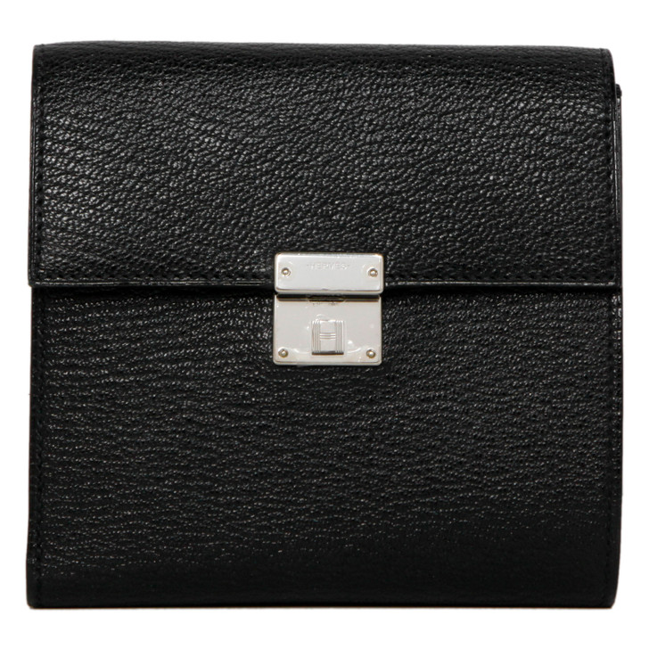 Hermes Black Mysore Chevre Mysore Clic 12 Wallet