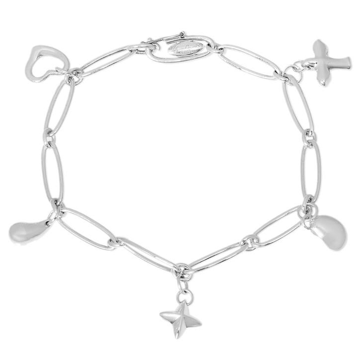 Tiffany & Co. Sterling Silver Elsa Peretti Charm Bracelet