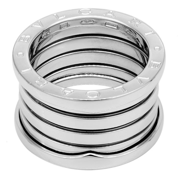 Bvlgari 18K White Gold B.Zero1 Five Band Ring