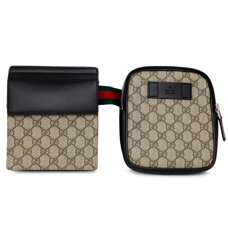 Gucci GG Supreme Monogram Web Belt  Bag
