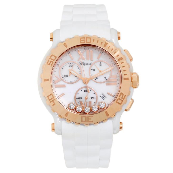 Chopard Ceramic & 18K Rose Gold Happy Sport Chronograph 288515-9001
