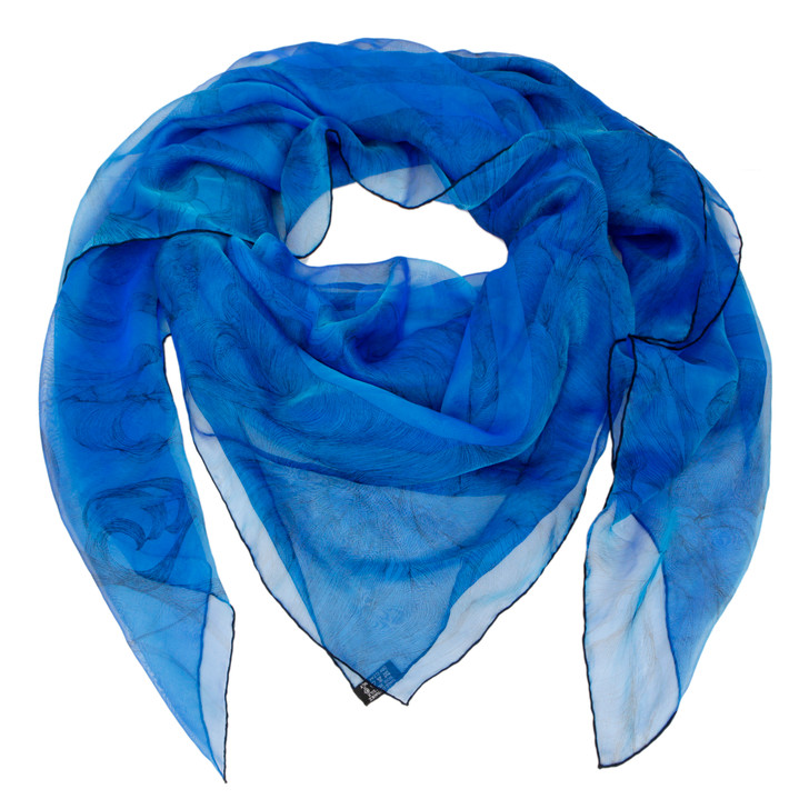 Hermes Blue Silk Brides de Gala en Finesse Scarf 140