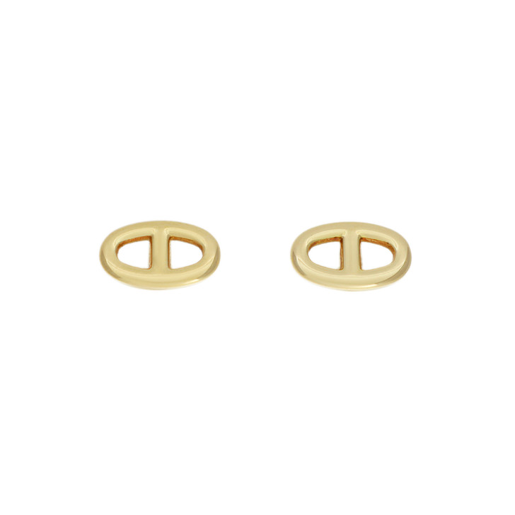 Hermes 18K Yellow Gold Chaine d'Ancre Earrings  TPM