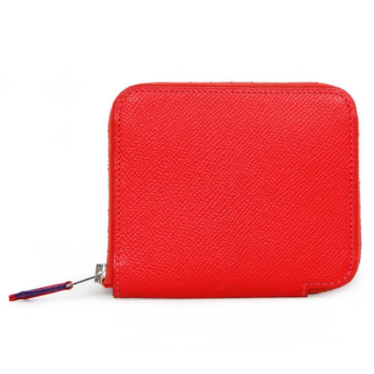 Hermes Bougainvillea Epsom Silk'in Compact Wallet