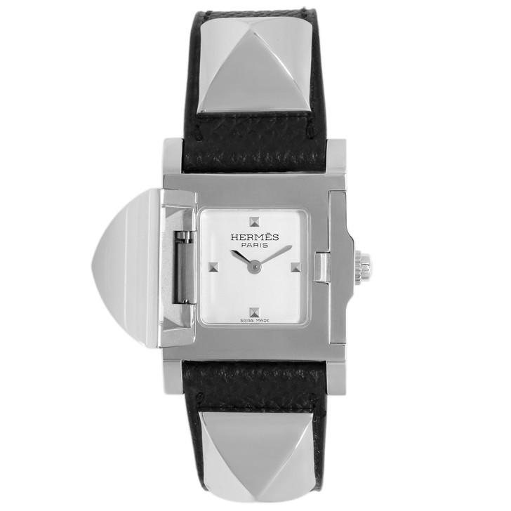 Hermes Stainless Steel Medor 23mm Quartz Watch