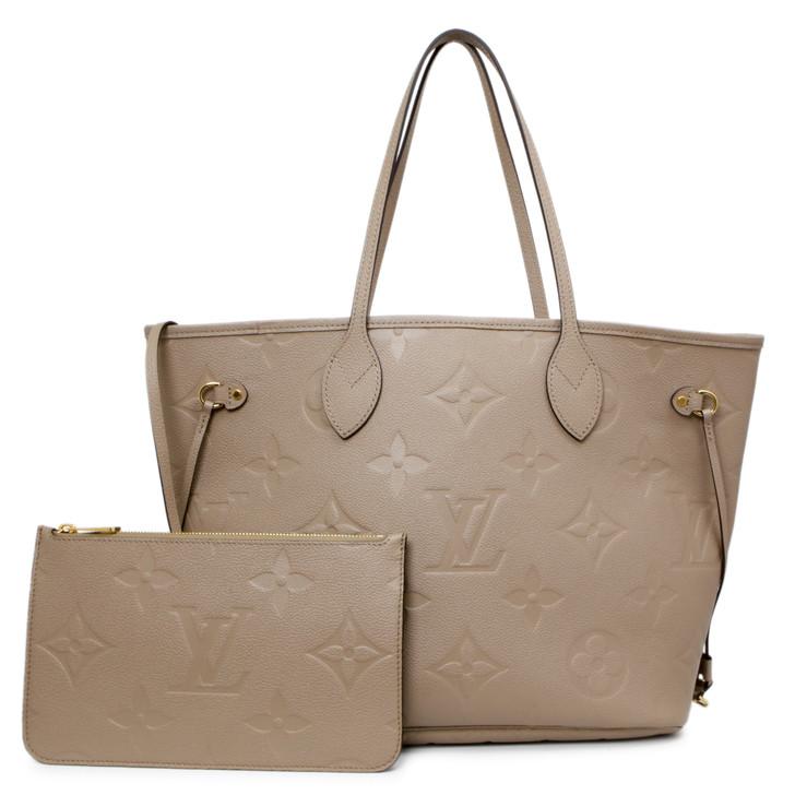 Louis Vuitton Turtledove Monogram Empreinte Neverfull MM