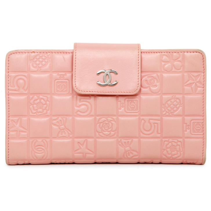 Chanel Pink Lambskin Lucky Symbols Wallet