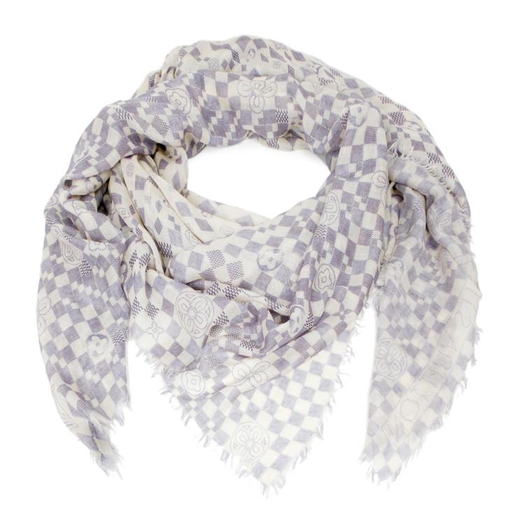 Louis Vuitton Damier Azur Cashmere/Silk Stole