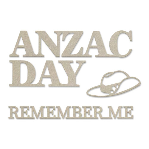 lest we forget - anzac day 4pce