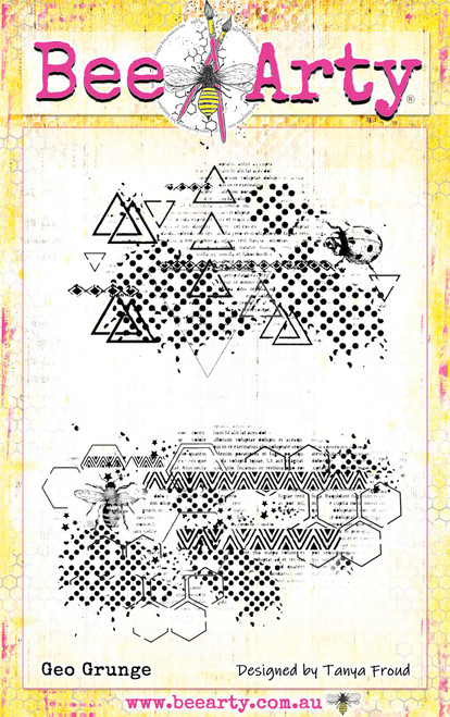 three six five - geo grunge stamp