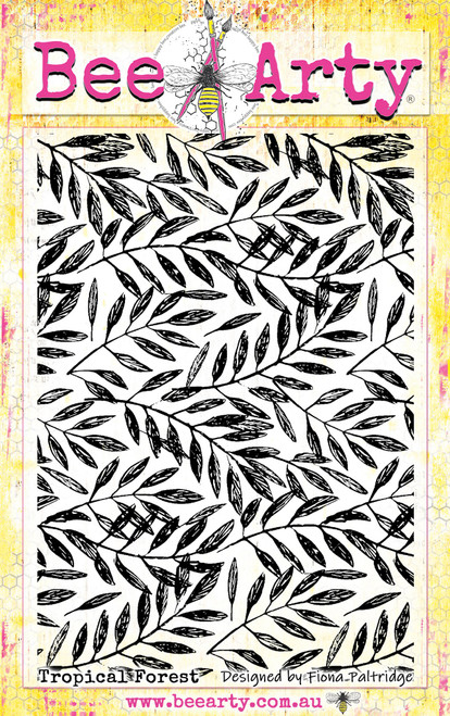 find paradise - tropical forest stamp