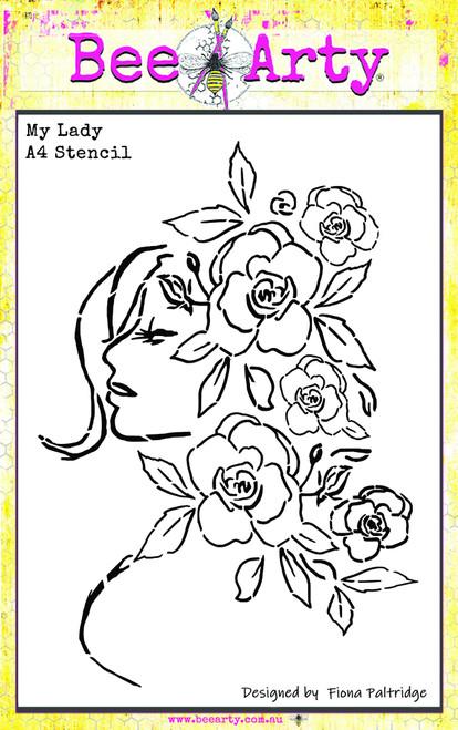 my lady A4 stencil