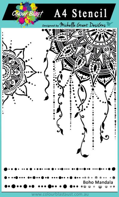 boho mandala A4 stencil