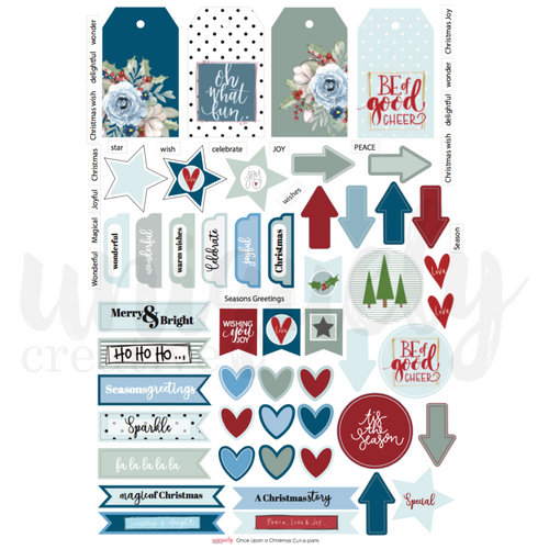 once upon a christmas cut-a-part sheet