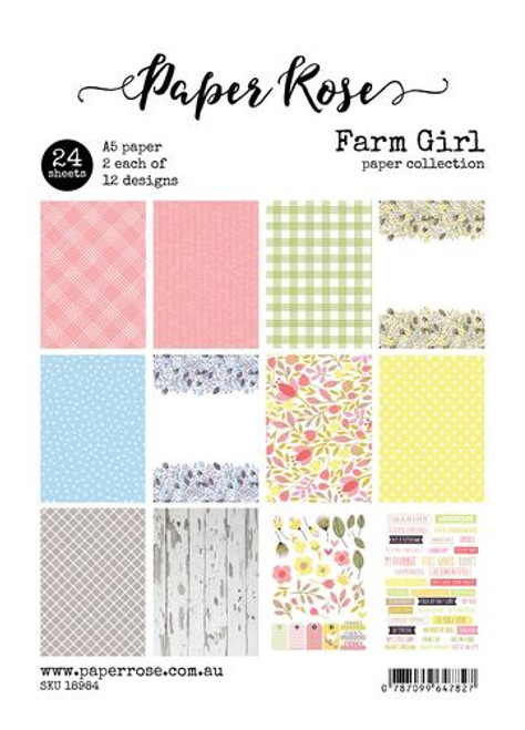 a5 paper pack - farm girl