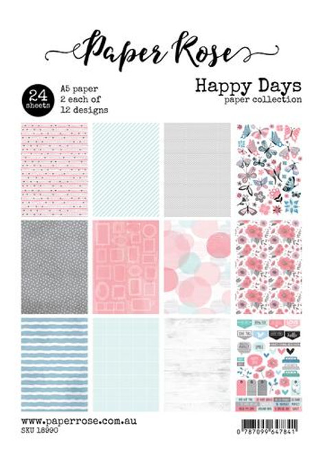 a5 paper pack - happy days