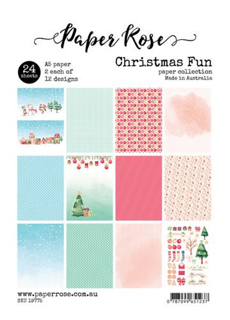 a5 paper pack - christmas fun