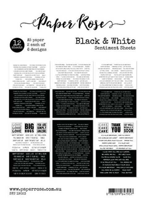 sentiment sheets - black & white