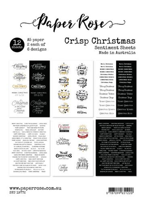sentiment sheets - crisp christmas