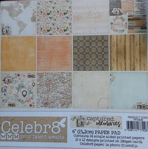 captured memories paper pad 6x6