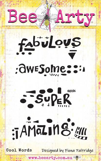 fearless brave & free - cool words stamp
