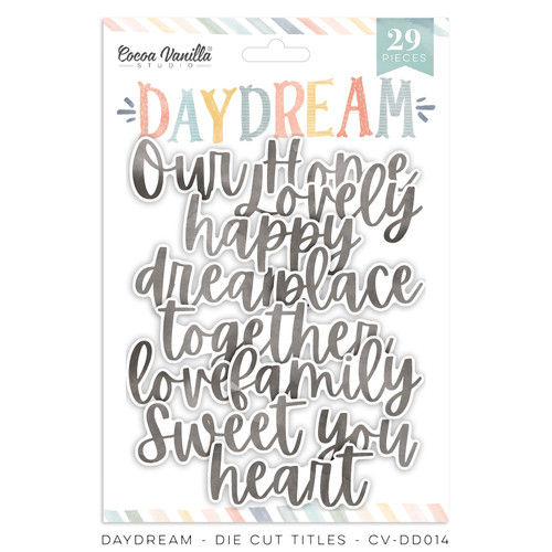 daydream die cut titles
