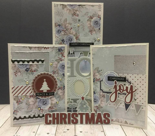 'once upon a christmas' card kit