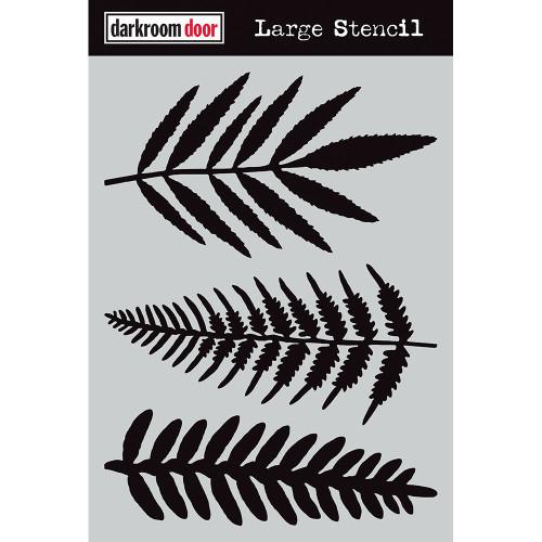 large stencil - ferns