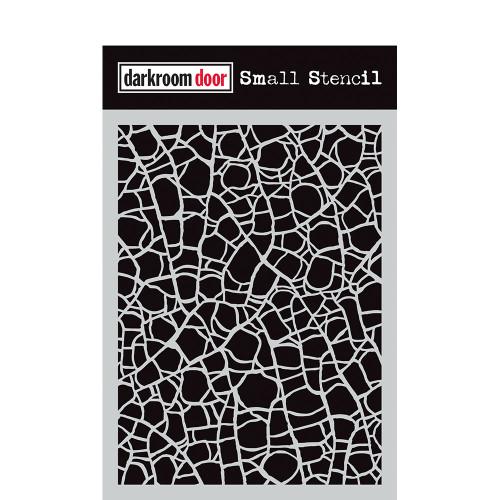 small stencil -crackle
