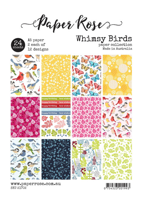 a5 paper pack - whimsy birds