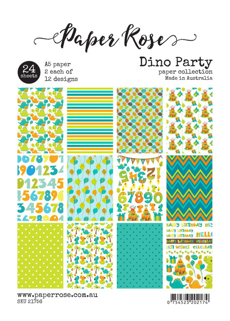 a5 paper pack - dino party