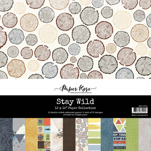 12x12 paper pack - stay wild