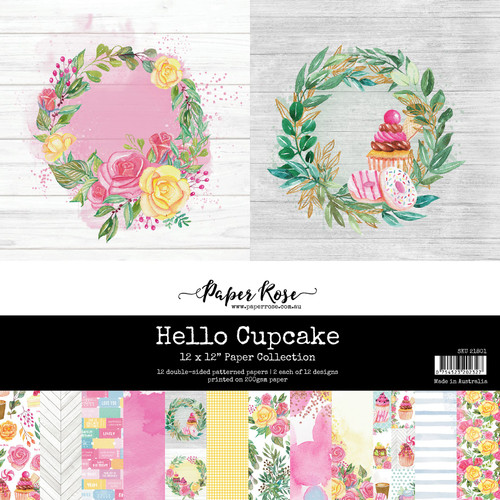 12x12 paper pack - hello cupcake