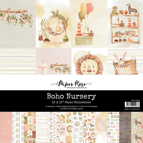 12x12 paper pad - boho nursery