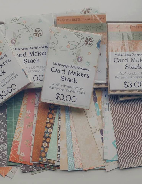 MAPS card makers stack 4x6