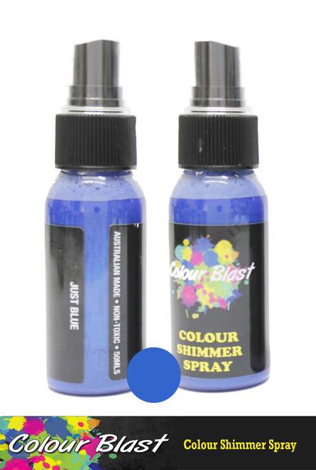 shimmer spray just blue
