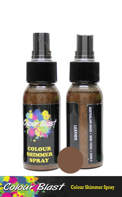 shimmer spray leather