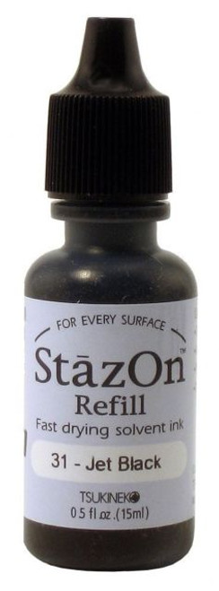 stazon refill jet black
