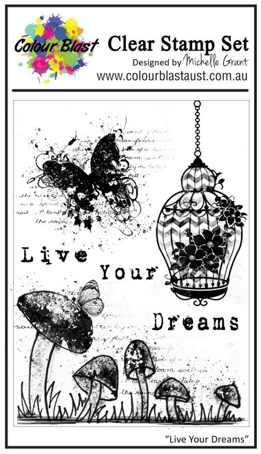 live your dream stamp set
