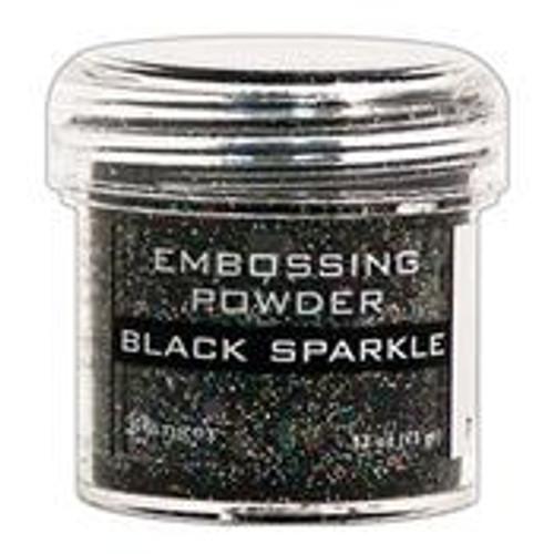 ranger embossing powder black sparkle