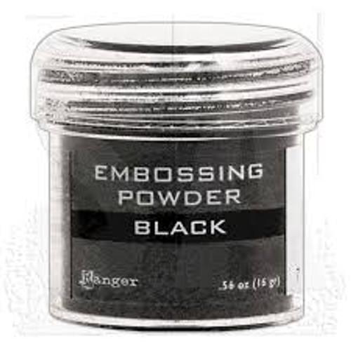 ranger embossing powder black