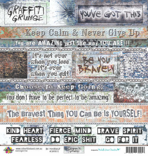 graffiti grunge be yourself