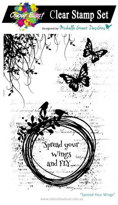 spread your wings stamp