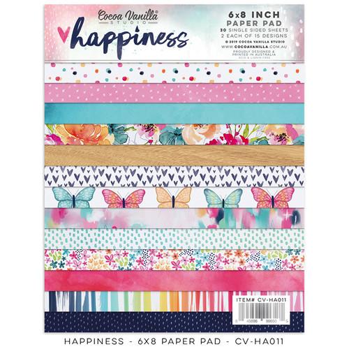happiness 6x8 paper pad